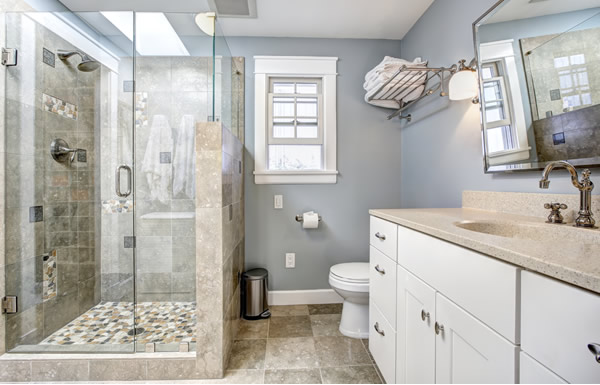We couldn't be more pleased with our newly remodeled bathroom. It has been  on our to-do list since we moved into our home in 2011.